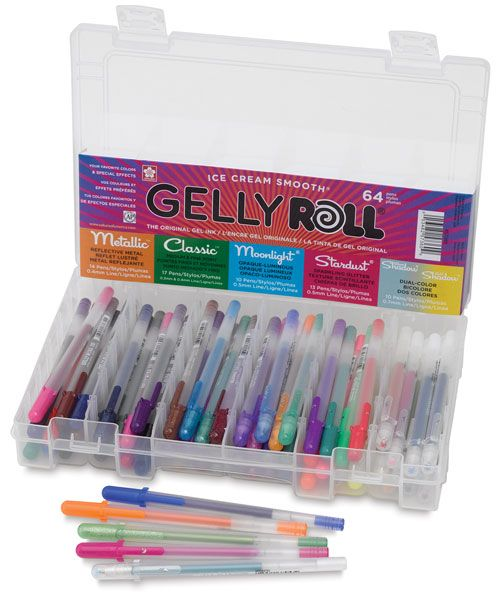 Gelly Roll 64-Pen Box Set...I dream of this set! 74-pen set is significantly more expensive. This is the cheapest version I could find of the 64-pen set.