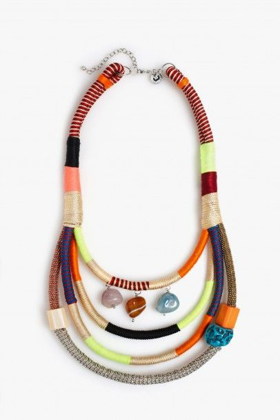 Chunky Neon Necklace - necklaces | Adolfo Dominguez Spring-Summer