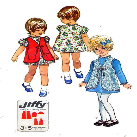 Simplicity 9130 Child Dress Sewing Pattern Puff Sleeve