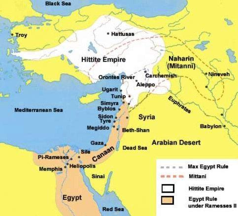 BATTLE OF KADESH: Map of the General Region