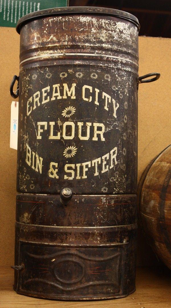 Cream City Flour Bin & Sifter