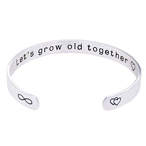 O.RIYA Stainless Steel Lets Grow Old Together Bracelet  You will Forever Be My Always Bracelets  Silver Plated (Silver-Plated) Review
