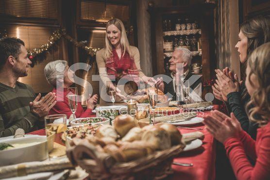 Famiglia estesa Festeggia il Natale vacanza  - fotografia stock royalty-free