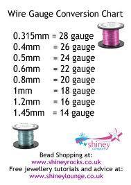 wire gauge conversion chart  #Wire #Jewelry #Tutorials