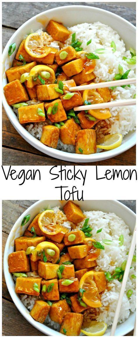 Vegan Sticky Lemon Tofu