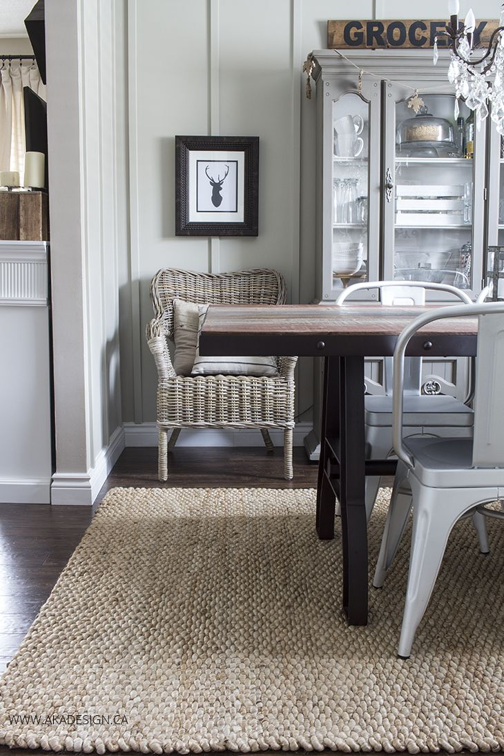 A New Rug for the Dining Room Area rug dining room