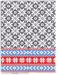 Estonian mittens pattern, etno Pattern repeat for 32 stitches Usable for knitting machines and also hand knitting