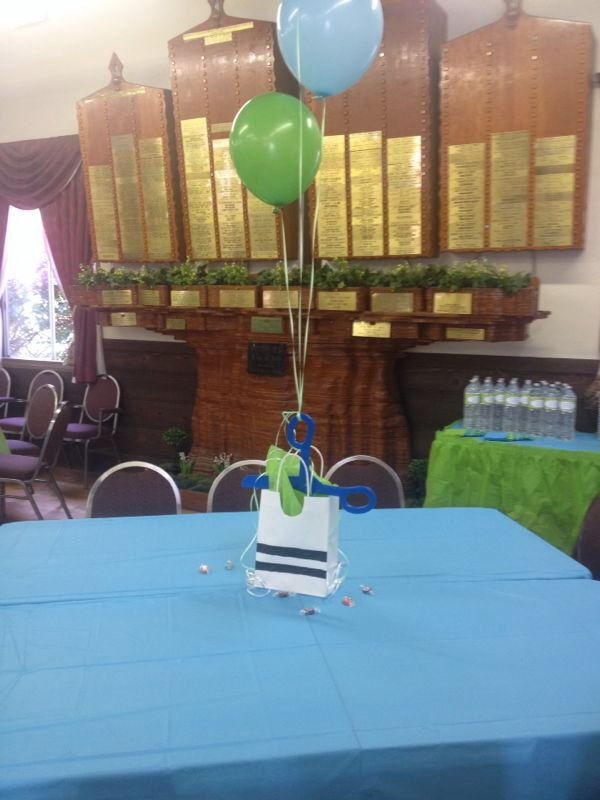 Upshernish table setting and centerpiece