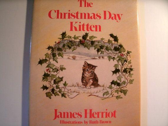 The Christmas Day Kitten, James Herriot, Vintage 1980s Children's Book, Vintage Illustration ...
