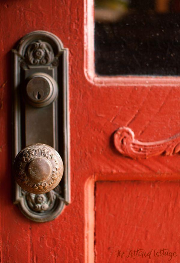 Old Doorknob | Red Door | Antique Hardware