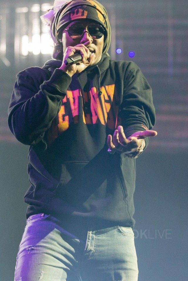 Future Hendrix wearing  Fan Merchandise OVO Summer Sixteen Tour Revenge Hoodie