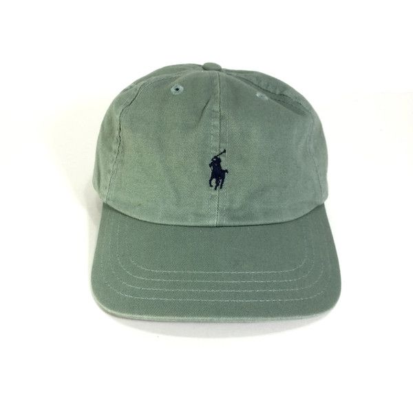 POLO HAT 90s Olive Polo Hat Polo Hat Ralph Lauren Polo Cap Polo Logo... ($10) ❤ liked on Polyvore featuring accessories, hats, vintage hats, olive green hat, vintage caps, caps hats and logo hats