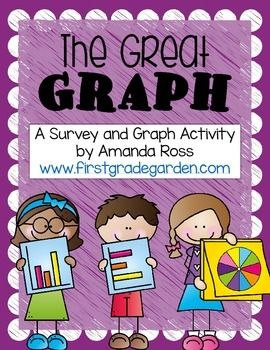 This is a fun activity for a math centre or whole group lesson. Students choose a survey question to ask ten students. They tally the results, then create a vertical bar graph, horizontal bar graph, or pie graph! There are 12 possible graphing questions included.