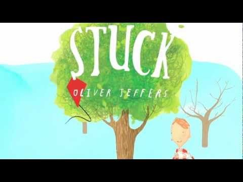 (Own) Stuck by Oliver Jeffers - boy gets kite caught in tree and throws things at it to solve his problem (including a ship and a whale). Very funny. Good book for predicting what will happen next (as it's not very predictable). Frequent use of CAPITALS for emphasis. Lots of nouns and noun groups (each thing that's thrown up the tree).