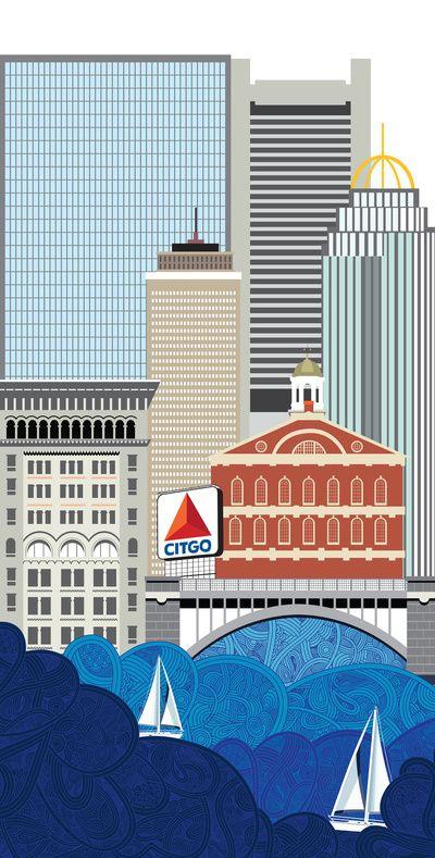 Life in Boston Art Print