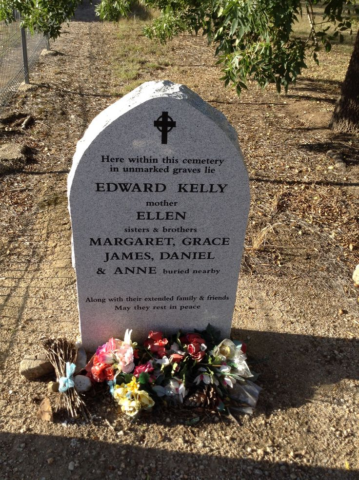 The headstone to remember the Kelly Family buried at the Greca Cemetery