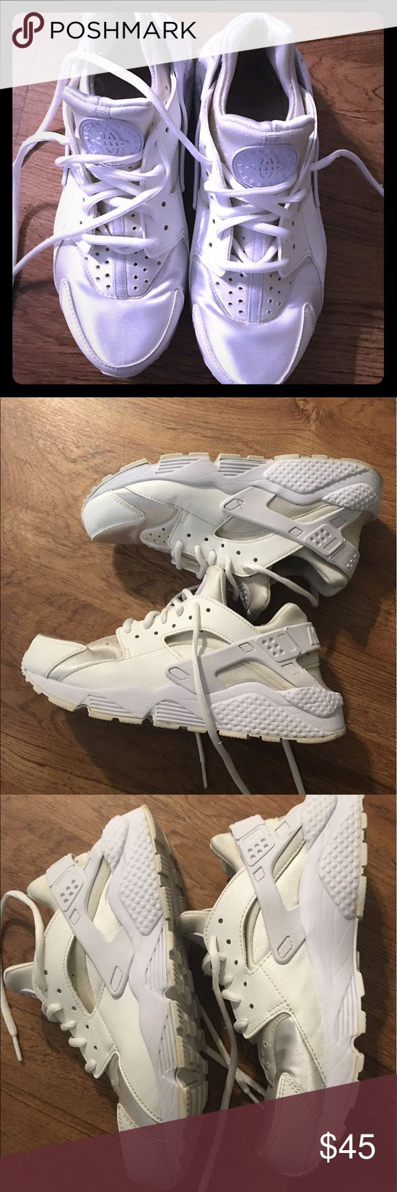 Huaraches Nike White Nike shoes gentle worn not a gym shoes fan Nike Shoes Athletic Shoes
