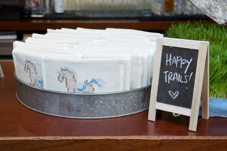 Happy trails! Custom made favours- rocking horse design