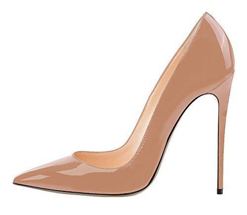 Guoar High Heels Damenchuhe Große Größe Pumps Einfach Stil Spitze Zehen Hand gemacht Stiletto Büro-Dame Party Hochzeit Natural EU40 - http://on-line-kaufen.de/guoar/40-26-5cm-guoar-high-heels-damenchuhe-grosse-pumps