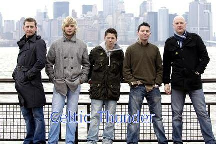 Celtic Thunder - if you haven't seen one of their specials on PBS, you should.