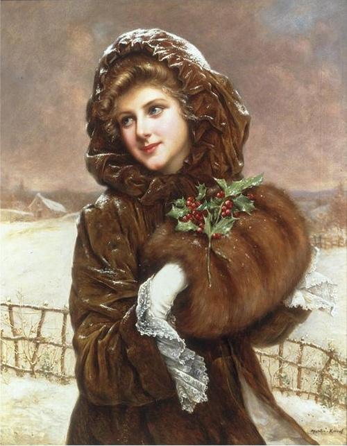 Giuseppe de Nittis - winter portrait