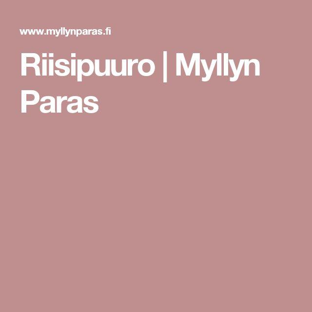 Riisipuuro | Myllyn Paras