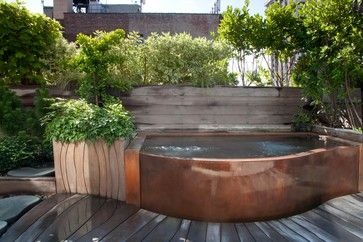 Copper Rooftop Hot Tub - Craftsman - Landscape - New York - by Diamond Spas