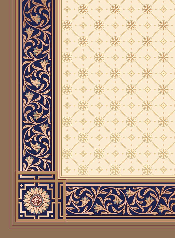 Historic Art Wallpaper   Aesthetic Movement Jeffrey Roomset – Ceiling Detail   B…