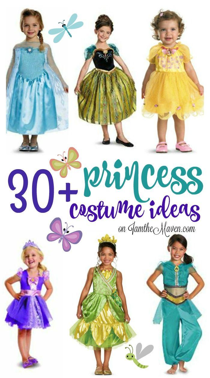 A list of over 30 adorable princess costume ideas!