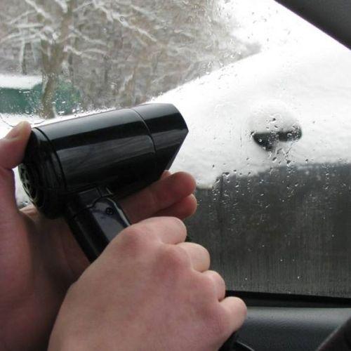 Автомобильный фен от прикуривателя 12 В (мощность - 180 Вт)