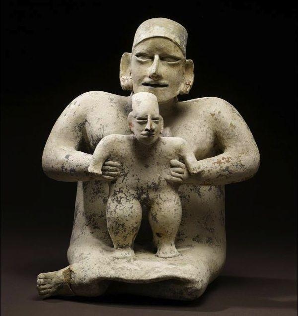 Moeder en kind - Mexico 100 BC–AD 200