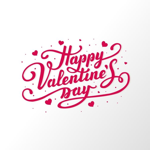 Valentines Day Lettering Card Design White Background Feeling Love Minimal Png And Vector With Transparent Background For Free Download Valentines Day Background Valentines Card Design