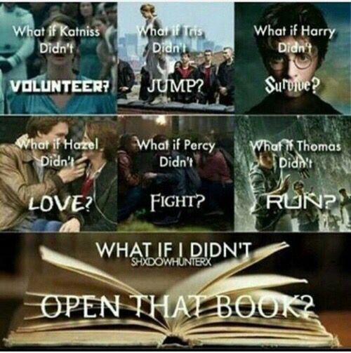OMG, everything would change.  If I didn't open that book, I would be missing out on a great adventure!