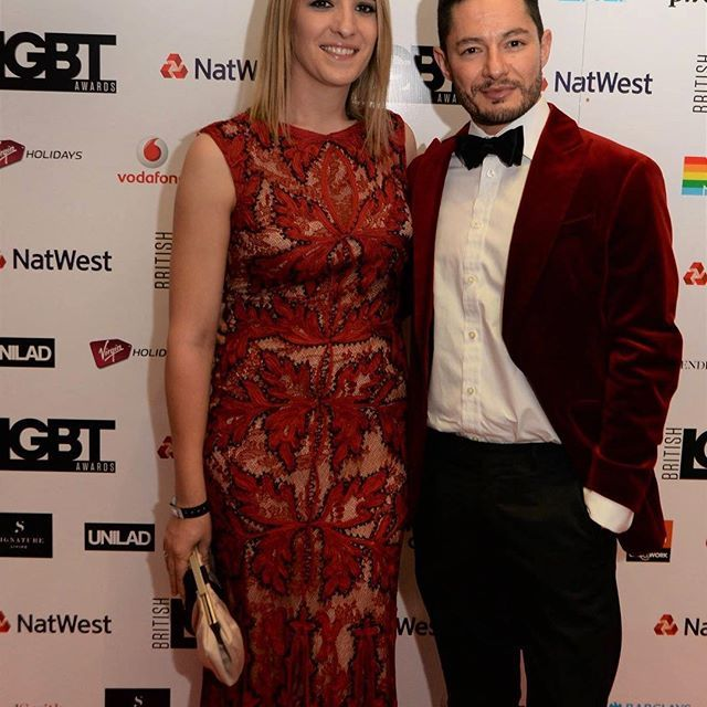 Throwback to last week's #britishlgbtawards with my handsome man @jake_graf5 ❤️ #trans #believe #beautiful #transgender #couple #love #life #look #dapper #motivation #london #uk #british #queer #me #lgbt #insta #instagood #instamood #style #blonde #ftm #mtf