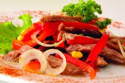 Мексиканские салаты из мяса