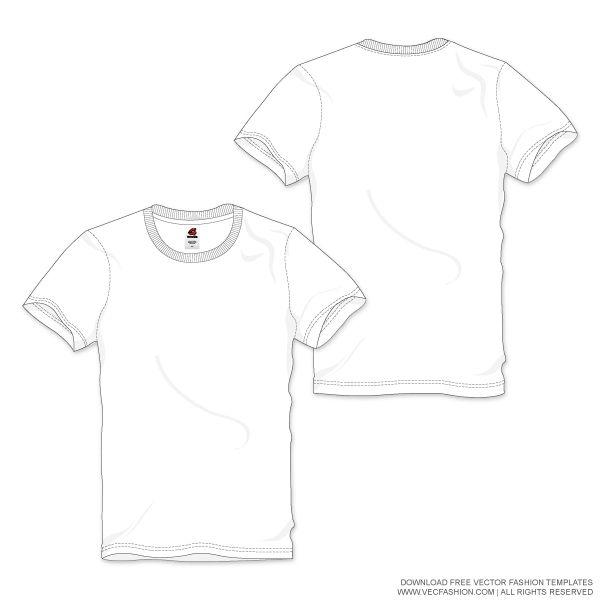 Men-White-Round-Neck-T-shirt-Vector-Template