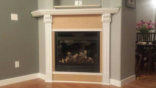 Marble gone mantel and uprights added