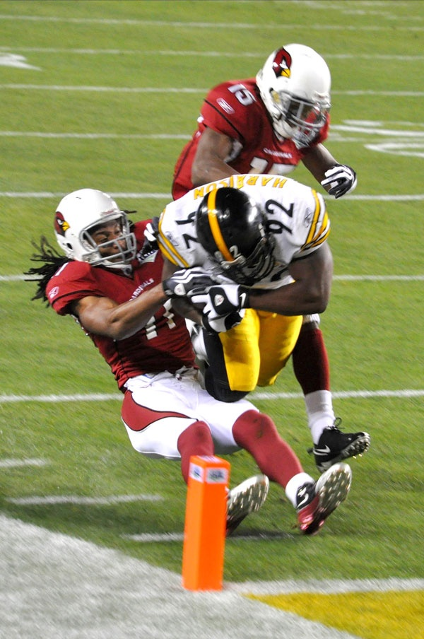 James Harrison - and that memorable 100 yard intereception return for a touchdown against Arizona in Super Bowl XLIII (2009)