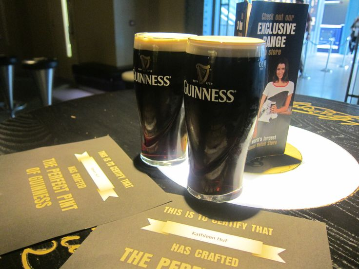 Don' forget to learn how to pour a pint on level 4 at the Guinness Storehouse.