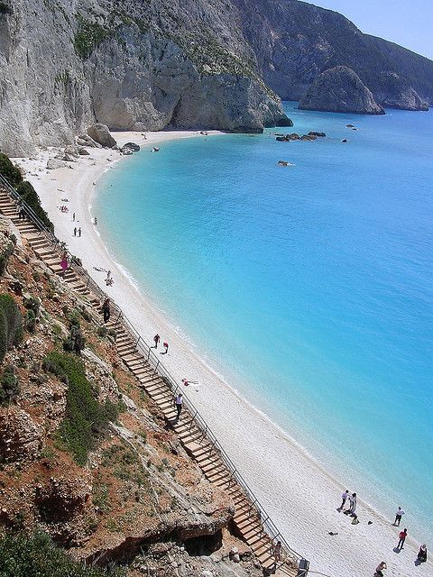 Porto Katsiki beach in Lefkada island ~ Greece
