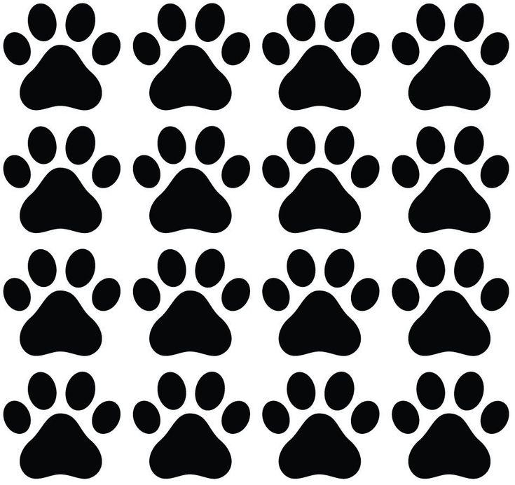 25 unique dog paw prints ideas on pinterest dog paws for Custom vinyl mural prints