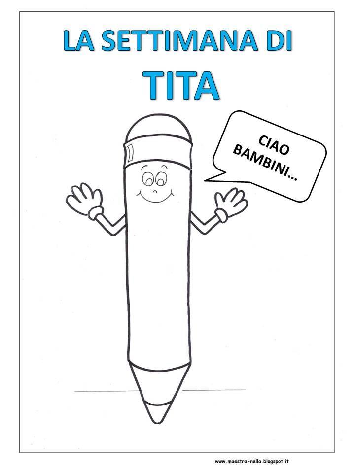 Mi è stato richiesto di illustrare questa filastrocca della settimana  che ha per protagonista Tita , una matita … personaggio che fa...