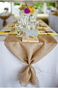 Love how this is tied! .......Green Villa Barn & Gardens.......: Burlap & Lace