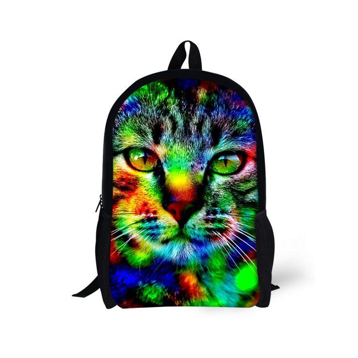 Stylish Girls School Bag Kawaii 3D Animal Cat Printing Schoolbag,Casual 16 inch Children Owl Book Bag for Kids Mochila Escolar - Top Kawaii - Best Online Kawaii Shop Top Kawaii - Best Online Kawaii Shop