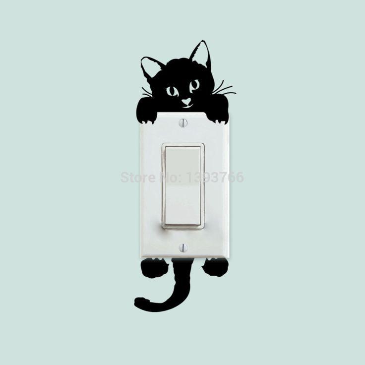 Bricolage drôle mignon Cat mettez autocollants Stickers muraux décoration chambre Parlor décoration 327 dans Autocollants muraux de Maison & Jardin sur AliExpress.com | Alibaba Group