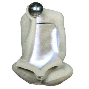 Yosemite Home Decor CW08146 Modern Design Single Headed Rock Fountain with LED Lighting Accents