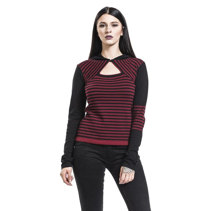 """Maglione donna """"Knit Asymetric Hoodie"""" del brand #PussyDeluxe."""