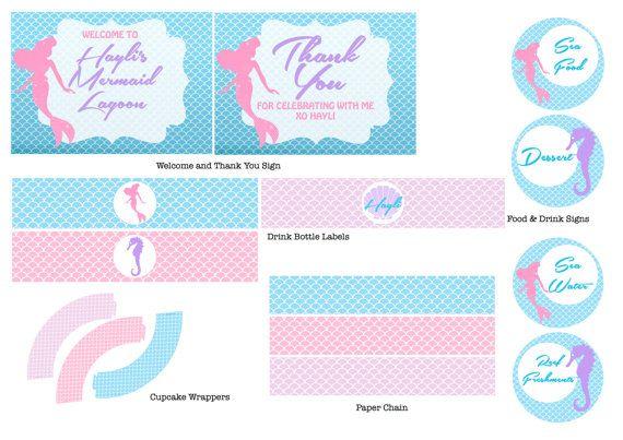 Little Mermaid Birthday Party Printables by LoveINKprintables