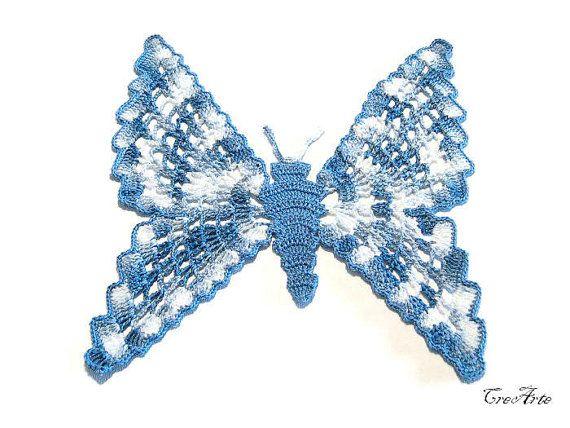 Crochet small doily Crochet Blue coasters by CreArtebyPatty