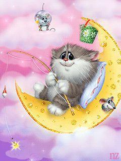 На луне. - анимация на телефон №1154629